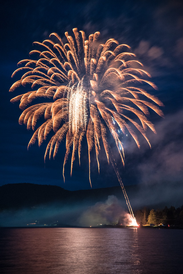 "TUESDAY, JULY 5, 2016<br /> <br /> FIREWORKS 8817<br /> <br /> ""Happy 4th of July from Grand Portage, MN!""<br /> <br /> Happy 4th of July from Grand Portage, MN!  The fireworks display last night was top-notch as always.  We enjoyed the view from the sandy beach of Grand Portage Bay on Lake Superior by the warmth of a campfire.  I hope everyone had a fun and safe holiday weekend!<br /> <br /> Camera: Nikon D750<br /> Lens: Nikon 24-120mm f/4<br /> Focal length: 105mm<br /> Shutter speed: 2.5 seconds<br /> Aperture: f/4<br /> ISO: 800"