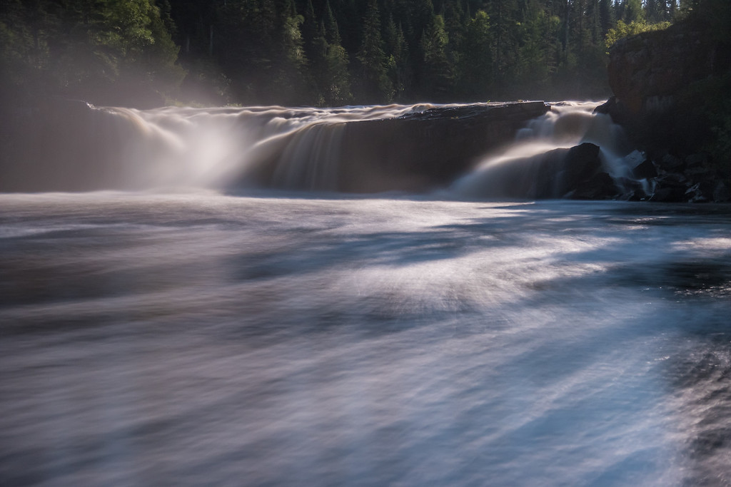 "MONDAY, JULY 25, 2016<br /> <br /> MOONLIGHT 8984<br /> <br /> ""Moonlight on Middle Falls""<br /> <br /> A recent moonlit night at Middle Falls on the Pigeon River, taken from the Ontario, Canada side of the river.  The waterfall was beautiful in the moonlight and the trails of foam made for an interesting foreground.<br /> <br /> Camera: Nikon D750<br /> Lens: Nikon 24-120mm f/4<br /> Focal length: 62mm<br /> Shutter speed: 20 seconds<br /> Aperture: f/4<br /> ISO: 1600"