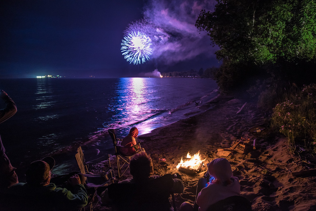"TUESDAY, JULY 5, 2016<br /> <br /> FIREWORKS 8827<br /> <br /> ""Happy 4th of July from Grand Portage, MN!""<br /> <br /> Happy 4th of July from Grand Portage, MN!  The fireworks display last night was top-notch as always.  We enjoyed the view from the sandy beach of Grand Portage Bay on Lake Superior by the warmth of a campfire.  I hope everyone had a fun and safe holiday weekend!<br /> <br /> Camera: Nikon D750<br /> Lens: Nikon 24-120mm f/4<br /> Focal length: 24mm<br /> Shutter speed: 0.6 seconds<br /> Aperture: f/4<br /> ISO: 800"