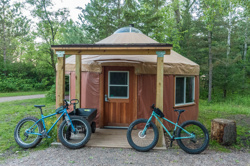 FRIDAY, JUNE 3, 2016<br /> <br /> BIKING 00600<br /> <br /> The Manganese Yurt, our home during our stay at Cuyuna.<br /> <br /> Cuyuna Country State Recreation Area - Crosby/Ironton, MN<br /> <br /> Camera: Sony DSC-RX100M3<br /> Focal length: 29mm<br /> Shutter speed: 1/25<br /> Aperture: f/8<br /> ISO: 1600