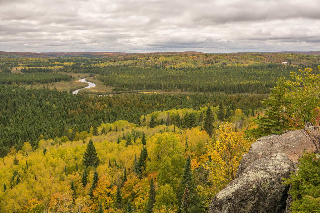 "TUESDAY, OCTOBER 4, 2016<br /> <br /> AUTUMN 01340<br /> <br /> ""Late September, Poplar River Overlook""<br /> <br /> A cloudy but still beautiful autumn afternoon on the Superior Hiking Trail overlooking the Poplar River near Lutsen, MN.<br /> <br /> Camera: Sony DSC-RX10M3<br /> Focal length: 27mm<br /> Shutter speed: 1/640<br /> Aperture: f/4<br /> ISO: 100"
