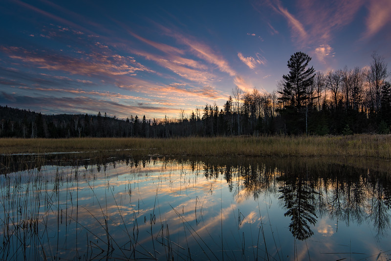 """SUNDAY, OCTOBER 23, 2016<br /> <br /> LAKES 1674<br /> <br /> """"Autumn Sunset, Eagle Marsh""""<br /> <br /> Last night's sunset over Eagle Marsh in Grand Portage, MN.  It sure was a beautiful one!<br /> <br /> Camera: Nikon D750<br /> Lens: Nikon 16-35mm f/4<br /> Focal length: 26mm<br /> Shutter speed: 1/15<br /> Aperture: f/11<br /> ISO: 100"""