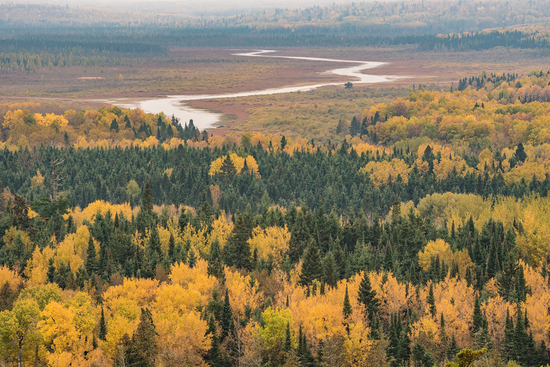 """THURSDAY, OCTOBER 6, 2016<br /> <br /> AUTUMN 0293<br /> <br /> """"October Colors, Swamp River Valley""""<br /> <br /> A telephoto lens view of Swamp River and the fall colors, taken from the 270 Overlook on the Superior Hiking Trail.  I sure do love this view!<br /> <br /> Camera: Nikon D750<br /> Lens: Tamron SP 150-600mm<br /> Focal length: 200mm<br /> Shutter speed: 1/50<br /> Aperture: f/11<br /> ISO: 400"""