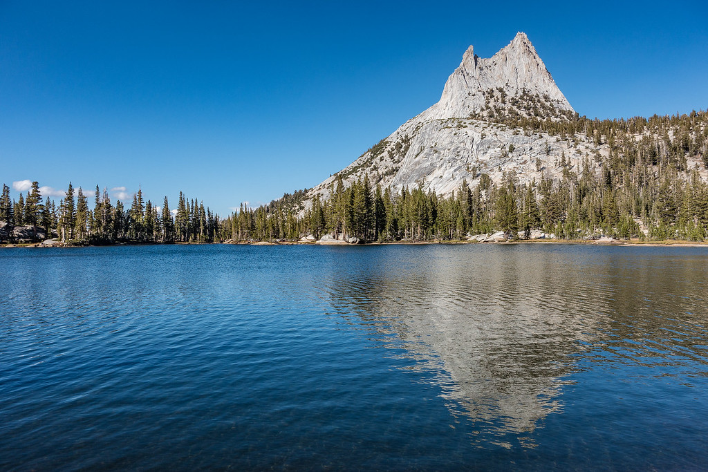 "SUNDAY, SEPTEMBER 25, 2016<br /> <br /> CALIFORNIA 03520<br /> <br /> ""Cathedral Peak Reflections""<br /> <br /> Yosemite National Park<br /> <br /> Camera: Sony DSC-RX100M3<br /> Focal length: 33mm<br /> Shutter speed: 1/800<br /> Aperture: f/4.5<br /> ISO: 100"