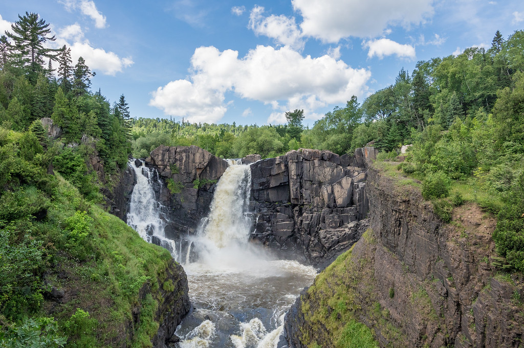 "MONDAY, AUGUST 7, 2017<br /> <br /> PIGEON RIVER 04884<br /> <br /> ""August at High Falls""<br /> <br /> Grand Portage State Park, MN - Minnesota's tallest waterfall never disappoints, no matter what time of year or what the water level is.  It's always an impressive sight!<br /> <br /> Camera: Sony DSC-RX10M3<br /> Focal Length: 28mm<br /> Exposure Time: 1/500<br /> Aperture: f/5.6<br /> ISO: 200"