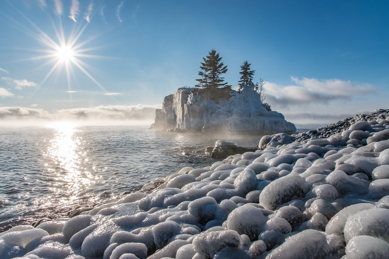 """Ice Eggs at Hollow Rock"""