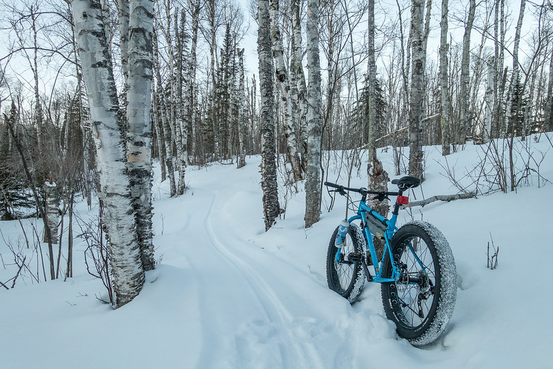 "SATURDAY, FEBRUARY 4, 2017<br /> <br /> BIKING 05127<br /> <br /> ""Evening Ride on Upper Fluvial""<br /> <br /> Out for an evening ride on Upper Fluvial Trail at Pincushion Mountain in Grand Marais, MN.<br /> <br /> Camera: Sony DSC-RX100M3<br /> Focal Length: 24mm<br /> Exposure Time: 1/200<br /> Aperture: f/4<br /> ISO: 400"