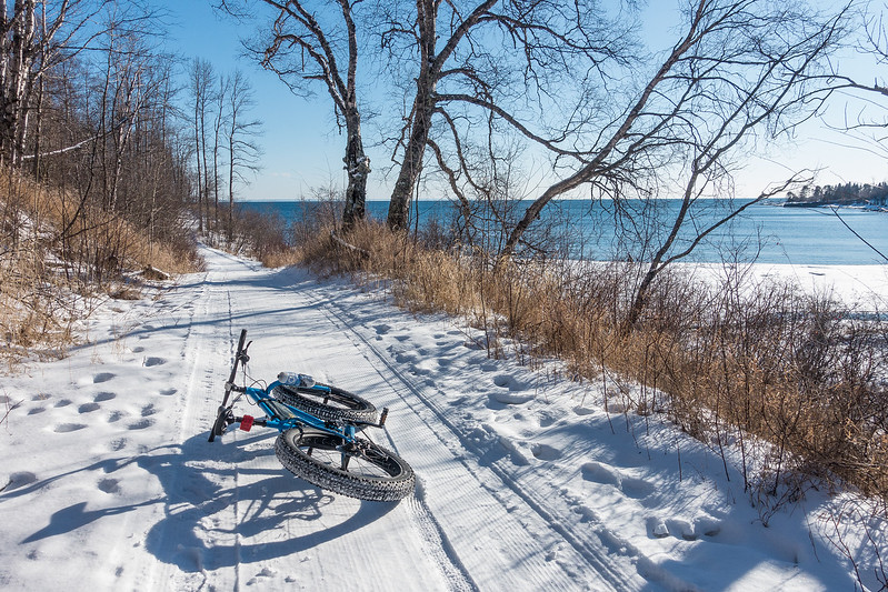 "THURSDAY, FEBRUARY 2, 2017<br /> <br /> BIKING 05117<br /> <br /> ""Shoreline Ride""<br /> <br /> There aren't too many places where you can ride a groomed fat bike trail right along the shoreline of Lake Superior!  Split Rock Lighthouse State Park, MN.<br /> <br /> Camera: Sony DSC-RX100M3<br /> Focal Length: 24mm<br /> Exposure Time: 1/640<br /> Aperture: f/5.6<br /> ISO: 100"