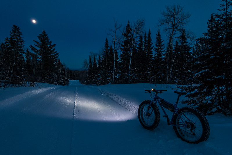 "THURSDAY, FEBRUARY 9, 2017<br /> <br /> BIKING 05339<br /> <br /> ""Zero Degree Moonlight Ride""<br /> <br /> Testing out my new bike light at the tail end of a 3 hour ride today.  It works great!  Really lights up the trail nicely.  If it was a little warmer out I would have kept on riding for a while longer.  But, after 13 miles with a LOT of hills I was ready to call it a day.  The view of the rising moon on the last stretch of trail was a great way to end an awesome ride!<br /> <br /> Camera: Sony DSC-RX100M3<br /> Focal Length: 24mm<br /> Exposure Time: 1/8<br /> Aperture: f/4<br /> ISO: 200"