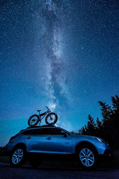"THURSDAY, JULY 27, 2017<br /> <br /> MILKY WAY 8745<br /> <br /> ""Outback, Ice Cream Truck and The Milky Way""<br /> <br /> Just a quiet night under the stars with my bike and my car :-)<br /> <br /> Camera: Nikon D750<br /> Lens: Nikon 14-24mm f/2.8<br /> Focal Length: 15mm<br /> Exposure Time: 30 seconds<br /> Aperture: f/2.8<br /> ISO: 6400"