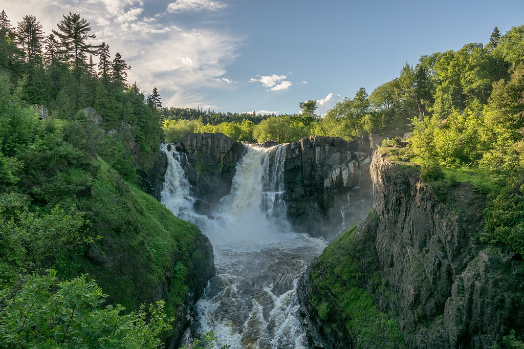 "THURSDAY, JUNE 30, 2017<br /> <br /> PIGEON RIVER 04835<br /> <br /> ""High Falls of the Pigeon River""<br /> <br /> Grand Portage State Park, MN<br /> <br /> Compared to the Middle Falls Trail, the trail to High Falls is very easy.  It's a one mile round-trip hike along a paved, wheelchair accessible trail.  And, it's Minnesota's tallest waterfall!<br /> <br /> Camera: Sony DSC-RX10M3<br /> Focal Length: 24mm<br /> Exposure Time: 1/800<br /> Aperture: f/4<br /> ISO: 100"
