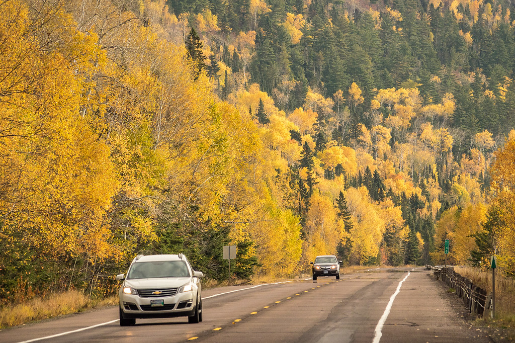 """FRIDAY, OCTOBER 20, 2017<br /> <br /> AUTUMN 06617<br /> <br /> """"Fall colors at Mile 148 on Highway 61""""<br /> <br /> Thanks to some pretty stiff winds the past couple of days the fall colors are now past their peak along Highway 61 in northeast Minnesota.  I meant to post this photo before the leaves were past peak but I missed it. I shot this on my way to work on October 16th.  The location is just a couple of miles south of the Canadian border.<br /> <br /> Camera: Sony DSC-RX10M3<br /> Focal Length: 351mm<br /> Exposure Time: 1/1600<br /> Aperture: f/4<br /> ISO: 400"""