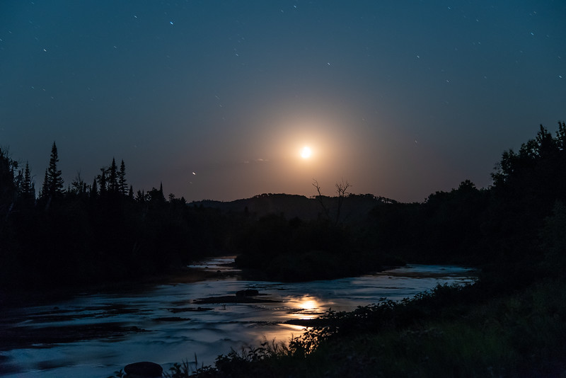 """August Moon over the Pigeon River"""