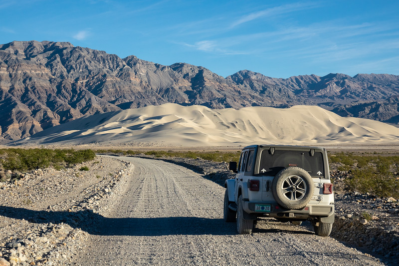"""Approaching the Eureka Dunes"""