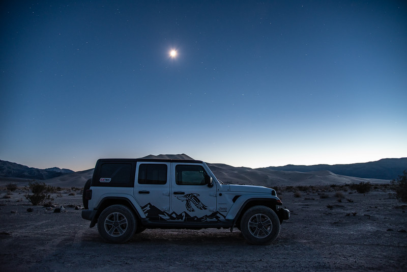 """Rising Moon over the Eureka Dunes"""