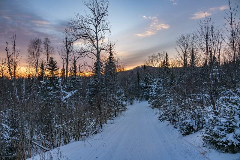 """Sunset on the Sugarbush Trails"""