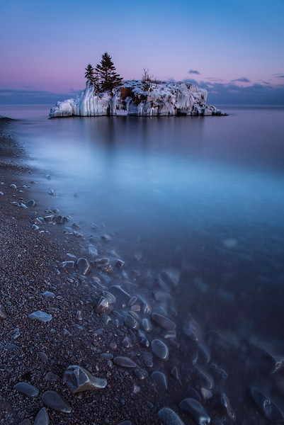"""The Blue Hour at Hollow Rock"""
