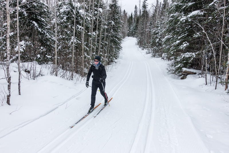 """Ski Day!  January 2nd on the Gunflint Trail"""