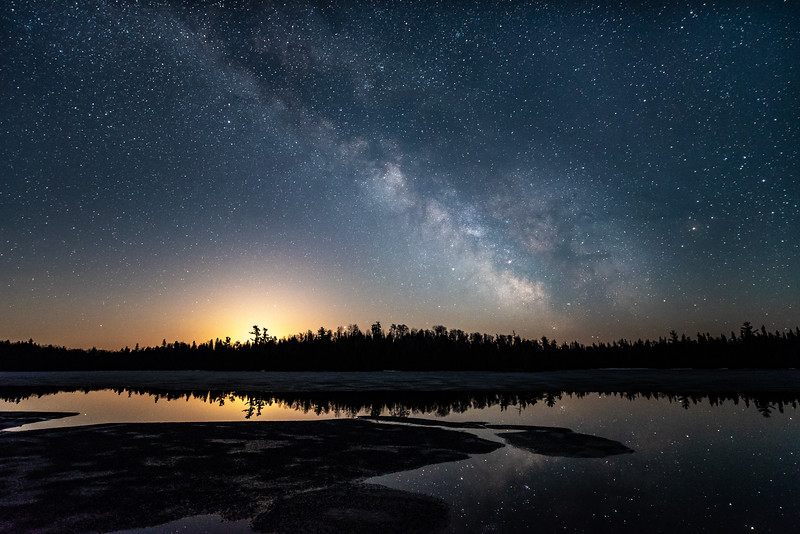 """Milky Way Moonrise, Chester Lake"""