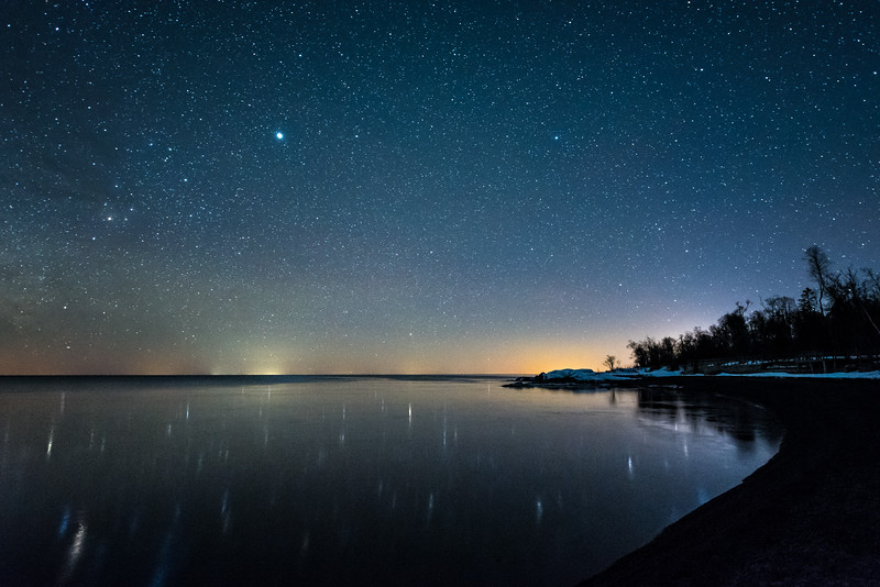 """Tranquil Night on Lake Superior"""
