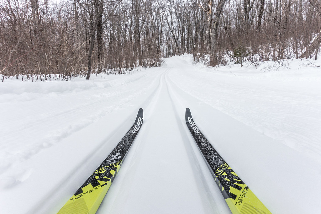 """""""First time out on the new Fischer Twin Skin skis"""""""