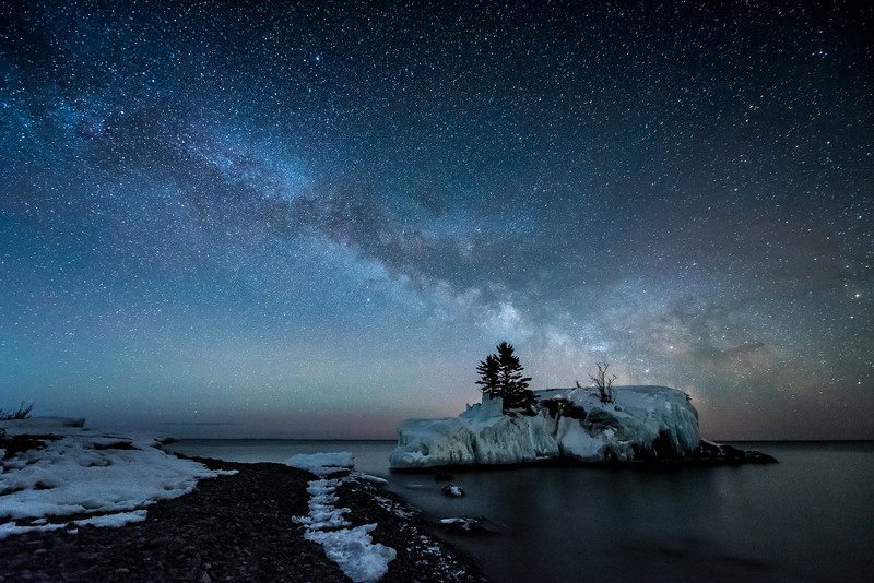 """March Milky Way over Hollow Rock"""
