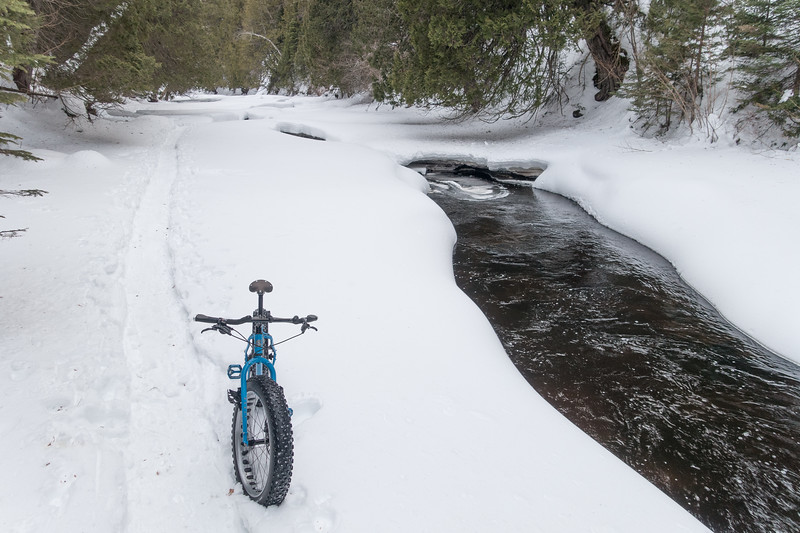 """Fat Biking on Cascade River"""