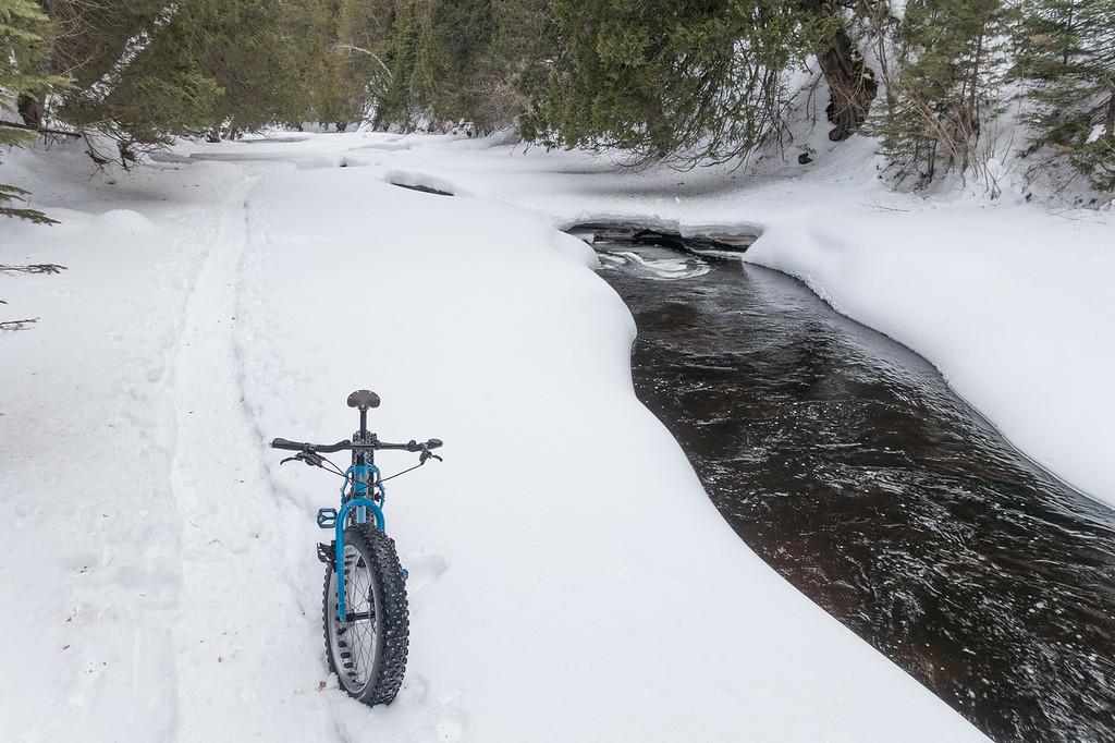 """Fat Biking on Cascade River"""