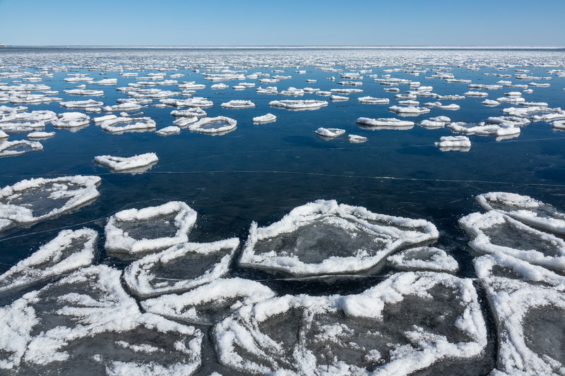 """Spring Ice on Chicago Bay"""