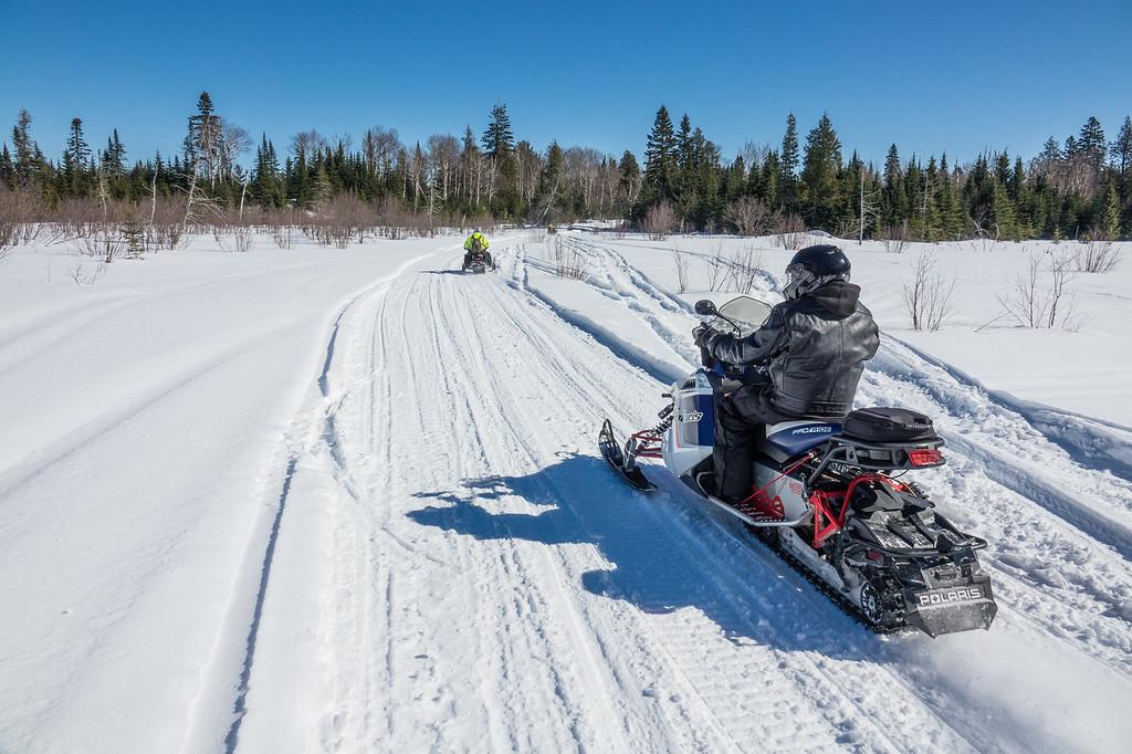"""Snowmobiling the Moose Ridge Trail"""