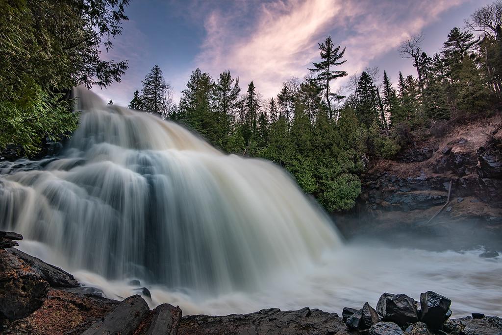"""Spring Sunset over Partridge Falls"""
