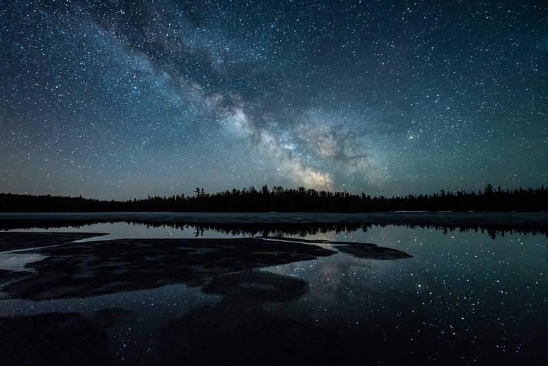 """Spring Ice under the Milky Way"""