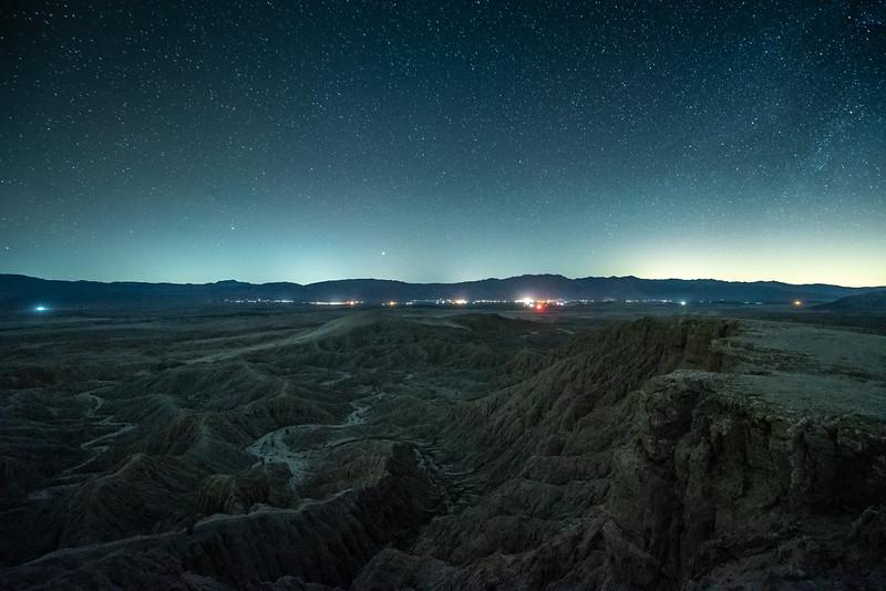 """""""Night Sky over the Borrego Badlands"""""""