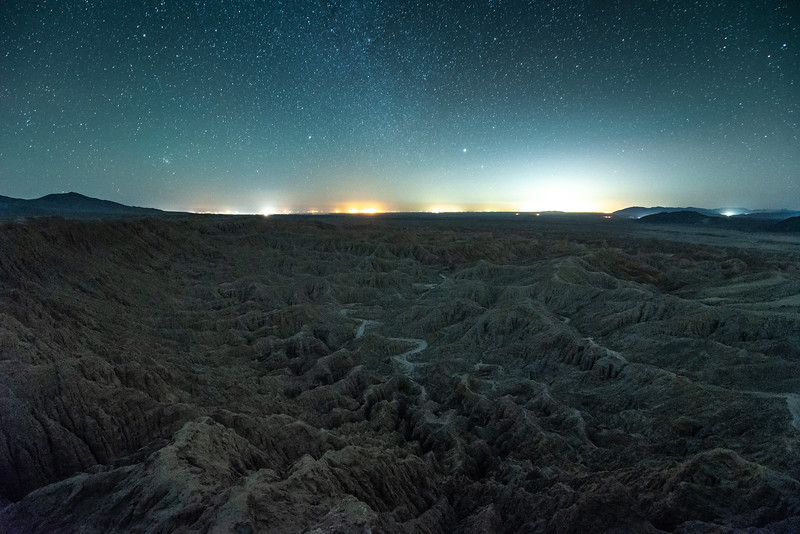 """Night Sky over the Borrego Badlands"""