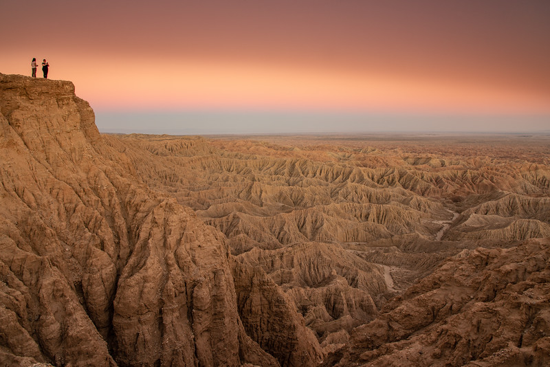 """Sunset over the Borrego Badlands"""