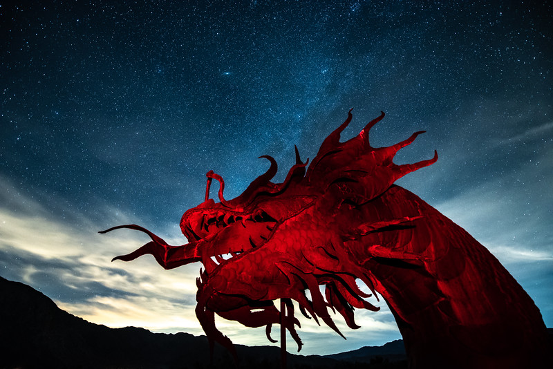 """Red Dragon and the Milky Way"""