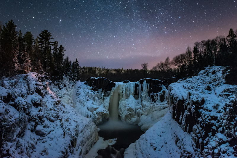 """December Night at High Falls"""