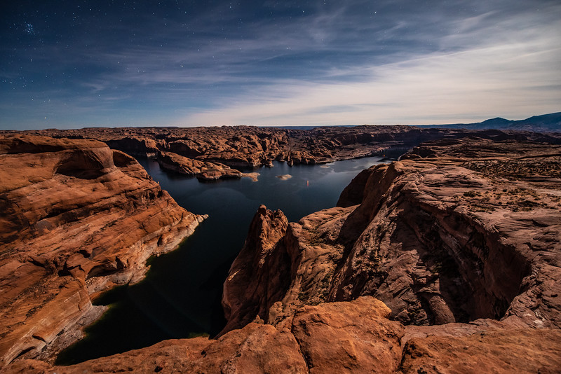 """Lake Powell Moonlight at Hole in the Rock"""