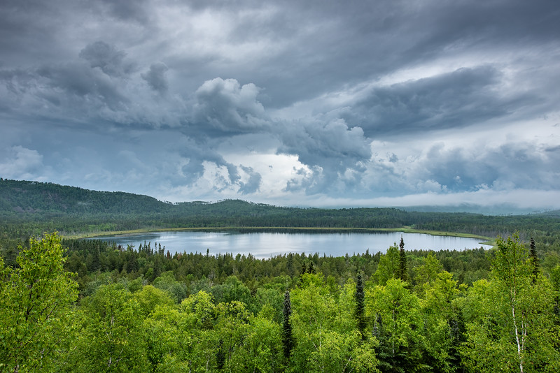 """Summer Storms over Teal Lake"""