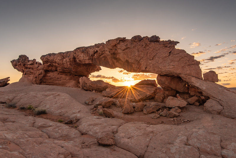 """Sunrise at Sunset Arch"""