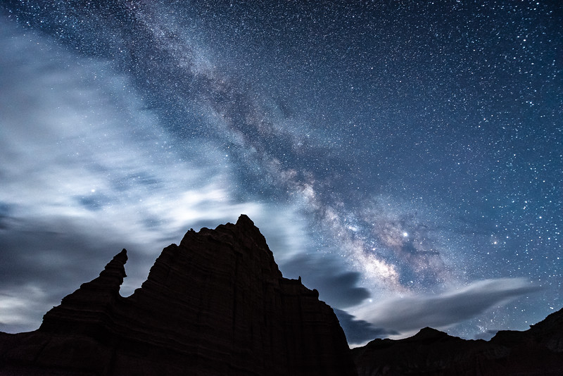 """Milky Way and the Temple of the Moon"""