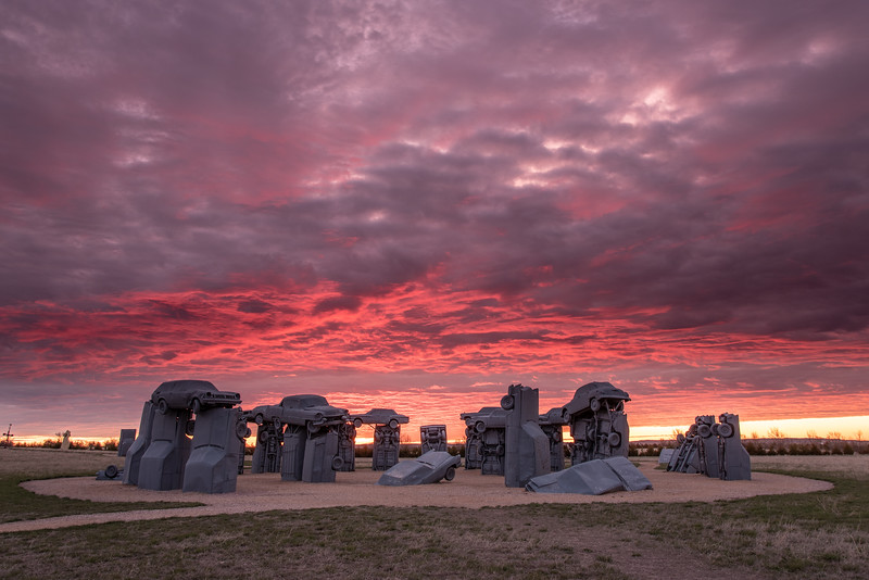 """Sunrise at Carhenge"""