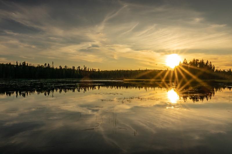 """""""September Sunset, Merganser Lake"""""""