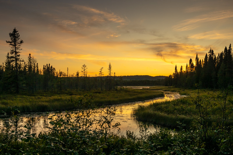 """Day's End at Merganser Lake"""