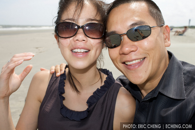 Pam and me at a beach in Charleston