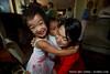 Kira, Jack and Livia's group hug
