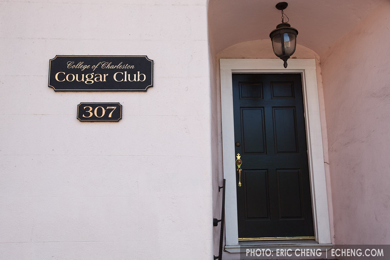 The College of Charleston Cougar Club. Josh really wanted to go in.