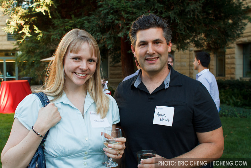 Valerie Shirk and Adam Nash (VP Search, Platform & Mobile Product @ LinkedIn)