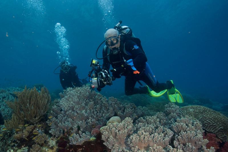 Steve Drogin, underwater in Indonesia. December 20, 2004. Photo: Eric Cheng