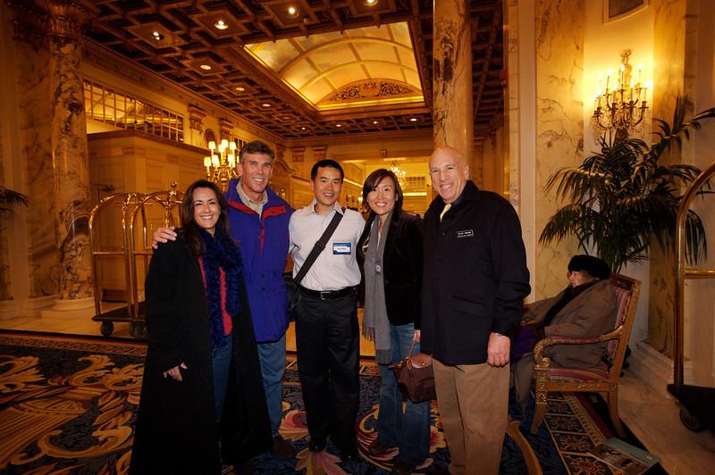 Michele Hall, Howard Hall, Eric Cheng, Hiro Drogin, Steve Drogin at Boston Sea Rovers Clinic. March 4, 2006.